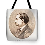 Jules A.h. De Goncourt (1830-1870). French Novelist: Engraving After A Contemporary Portrait On Enamel Tote Bag