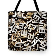 Jumbled Letters Tote Bag