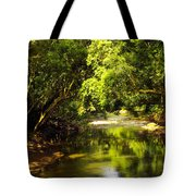Jungle Stream Below The Secret Tote Bag
