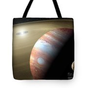 Jupiter And Moon Tote Bag