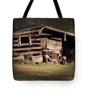 Just An Old Car Tucked Away Tote Bag