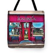 Justine's Ice Cream Parlour Tote Bag