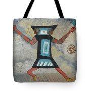 K Is For Kachina Detail From Childhood Quilt Painting Tote Bag