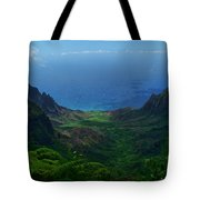 Kalalau Valley 3 Tote Bag by Ken Smith