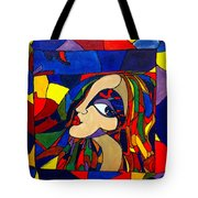 Kaleidoscope Girl Tote Bag