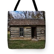 Kansas Log Cabin Tote Bag