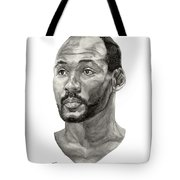 Karl Malone Tote Bag by Tamir Barkan