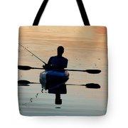 Kayak Fisherman Tote Bag