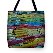 Kayak Row Tote Bag