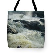 Kayaker Running Maryland Side Of Great Tote Bag