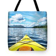 Kayaking In Bc Tote Bag