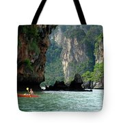 Kayaking In Thailand Tote Bag