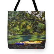 Kayaks On The Little Sandy Tote Bag