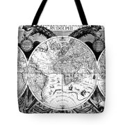 Keplers World Map, Tabulae Tote Bag by Science Source