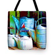 Kettles And Cans To Water The Garden Tote Bag