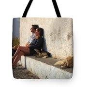 Kicking Back In Greece Tote Bag