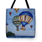 Kid's Art- Balloon Ride Tote Bag