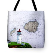 Kilauea Point Lighthouse On Noaa Chart Tote Bag