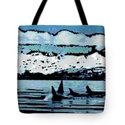 Killer Whales Tote Bag