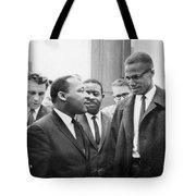 King And Malcolm X, 1964 Tote Bag