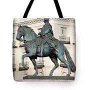 King Charles IIi Statue In Madrid Tote Bag