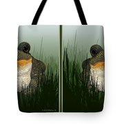 King Frog - Gently Cross Your Eyes And Focus On The Middle Image Tote Bag