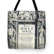 King James I Bible, 1611 Tote Bag by Granger
