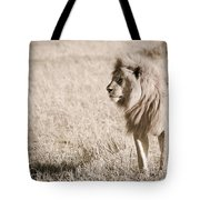 King Of Cats In Sepia Tote Bag