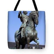 King Philip IIi Statue In Madrid Tote Bag