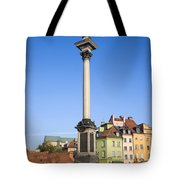 King Sigismund Column In Warsaw Tote Bag