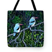 Woodland Kingfisher Tote Bag