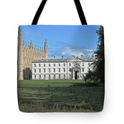 Kings College Chapel And The Gibbs Building Tote Bag