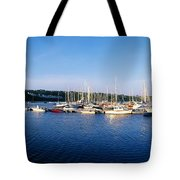 Kinsale, Co Cork, Ireland Moored Boats Tote Bag