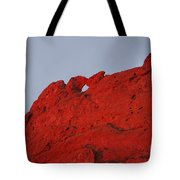 Kissing Camels On Fire Tote Bag