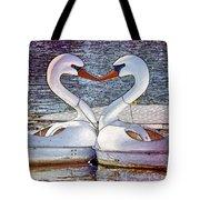 Kissing Swans Tote Bag