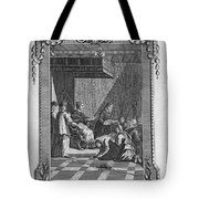 Kissing The Popes Feet Tote Bag