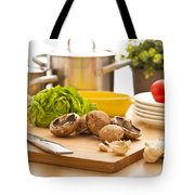 Kitchen Still Life Preparation For Cooking Tote Bag