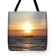 Kite Flying At Sundown Tote Bag