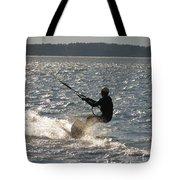 Kiteboarder Tote Bag by Rrrose Pix