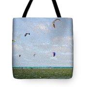 Kites Over The Bay Tote Bag