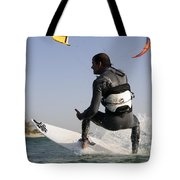 Kitesurfing Board Tote Bag