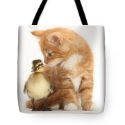 Kitten And Duckling Tote Bag