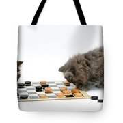 Kittens Playing Checkers Tote Bag