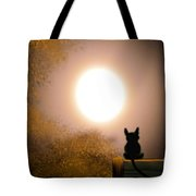 Kitty And The Moon Tote Bag