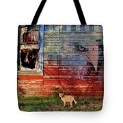 Painted Eagle Tote Bag
