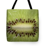 Kiwi Fruit Reflected On Glass Tote Bag by Mark Duffy