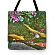 Koi Fish Poses Tote Bag