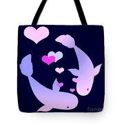 Koi In Love Tote Bag