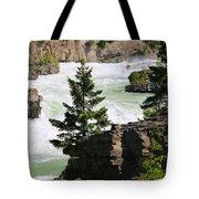 Kootenai Falls In Montana Tote Bag
