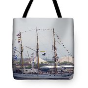 Kri Dewaruci Passing By Fort Mchenry Tote Bag
